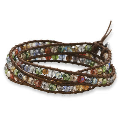Multicolor Crystal Wrap Fashion Bracelet-Bracelets-Here Comes The Bling™