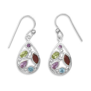 Multishape Stone French Wire Earrings-Earrings-Here Comes The Bling™