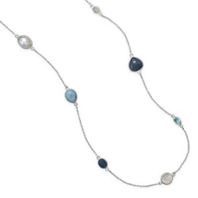 Multistone Endless Necklace-Necklaces-Here Comes The Bling™