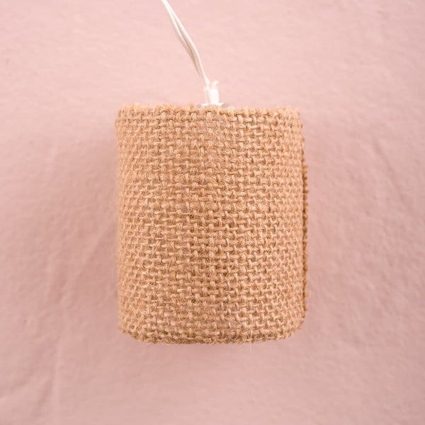 Natural Burlap String of Lights-Decor-Lights-Here Comes The Bling™