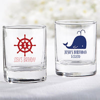 Nautical Birthday Collection Shot Glass or Votive Holder-Favors-Candle Holders-Here Comes The Bling™