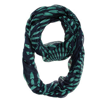 Navy Shauna Infinity Scarf-Scarf-Here Comes The Bling