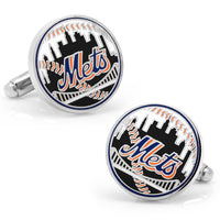 New York Mets Baseball Cufflinks-Cufflinks-Here Comes The Bling™