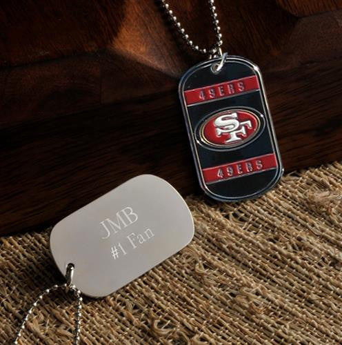 NFL Dog Tag - 49ERS-Dog-Tag-Necklace-Here Comes The Bling™