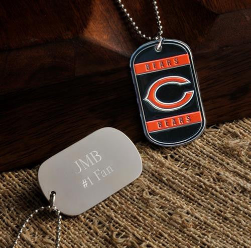 NFL Dog Tag - BEARS-Dog-Tag-Necklace-Here Comes The Bling™