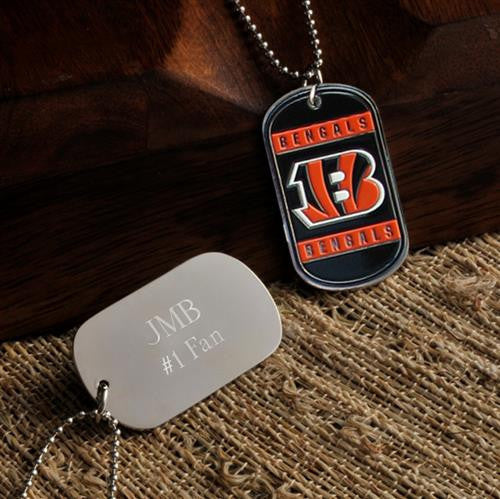 NFL Dog Tag - BENGALS-Dog-Tag-Necklace-Here Comes The Bling™