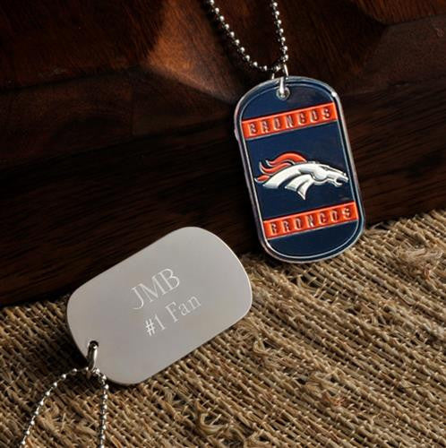 NFL Dog Tag - BRONCOS-Dog-Tag-Necklace-Here Comes The Bling™