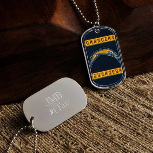 NFL Dog Tag - CHARGERS-Dog-Tag-Necklace-Here Comes The Bling™