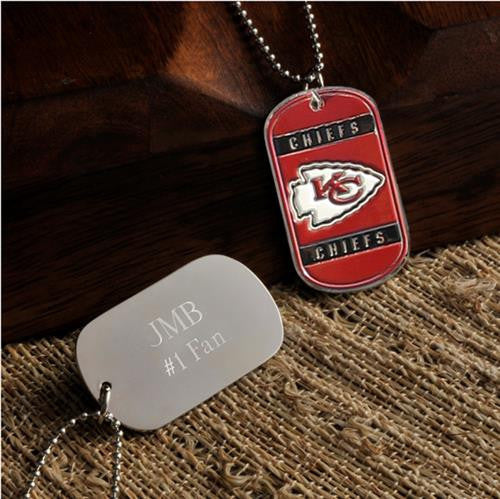 NFL Dog Tag - CHIEFS-Dog-Tag-Necklace-Here Comes The Bling™