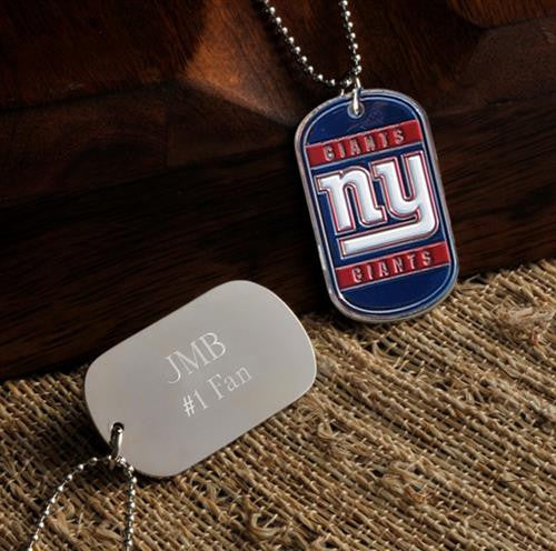 NFL Dog Tag - GIANTS-Dog-Tag-Necklace-Here Comes The Bling™