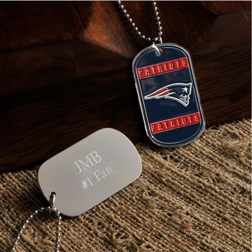 NFL Dog Tag - PATRIOTS-Dog-Tag-Necklace-Here Comes The Bling™