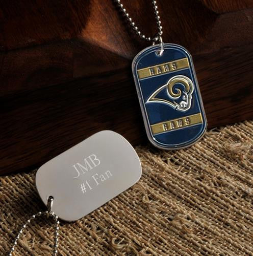 NFL Dog Tag - RAMS-Dog-Tag-Necklace-Here Comes The Bling™