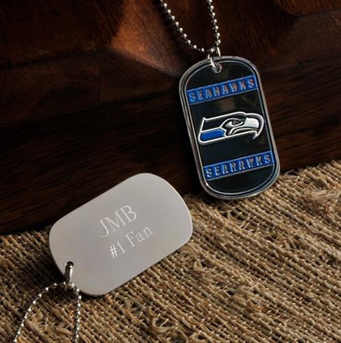 NFL Dog Tag - SEAHAWKS-Dog-Tag-Necklace-Here Comes The Bling™