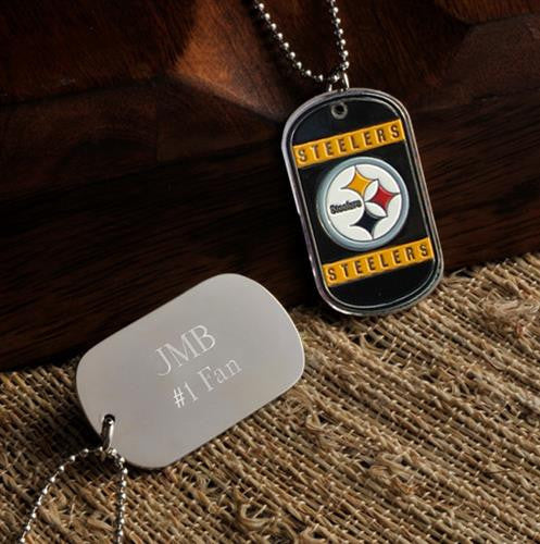 NFL Dog Tag - STEELERS-Dog-Tag-Necklace-Here Comes The Bling™