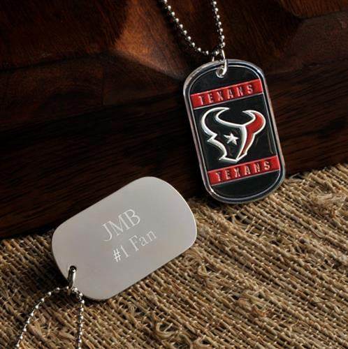 NFL Dog Tag - TEXANS-Dog-Tag-Necklace-Here Comes The Bling™