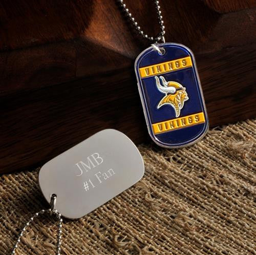 NFL Dog Tag - VIKINGS-Dog-Tag-Necklace-Here Comes The Bling™