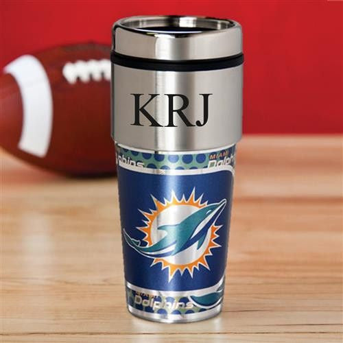 NFL Hot/Cold Tumbler 17 oz. - Dolphins-Travel Mugs-Here Comes The Bling™