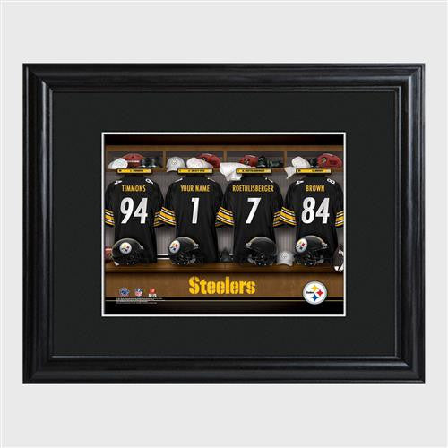 NFL Locker Print with Matted Frame - STEELERS-Art-Here Comes The Bling™