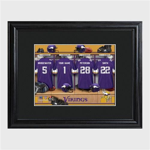 NFL Locker Print with Matted Frame - VIKINGS-Art-Here Comes The Bling™