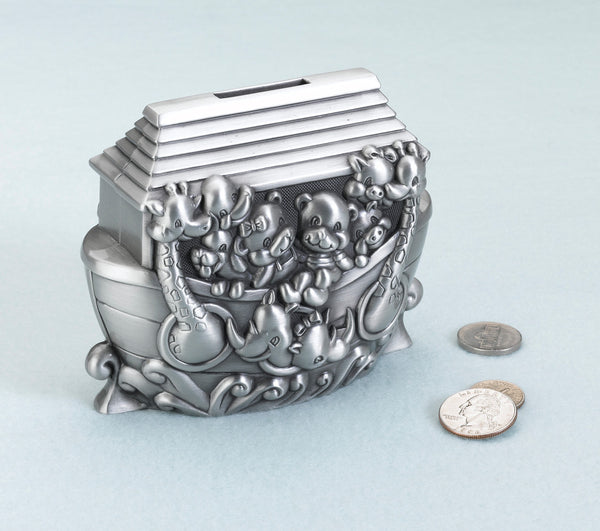 Noah's Ark Pewter Bank-Baby Gifts-Here Comes The Bling™