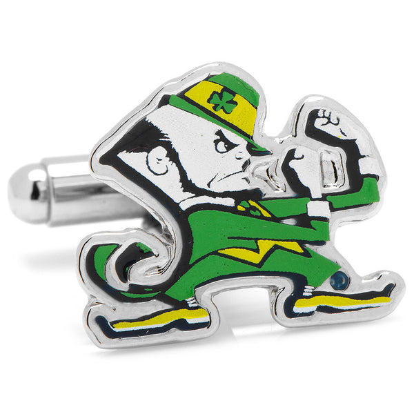 Notre Dame Fighting Leprechaun Cufflinks-Cufflinks-Here Comes The Bling™