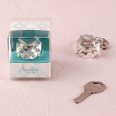 Novelty Diamond Key Chain in Gift Favor Box (Pack of 6)