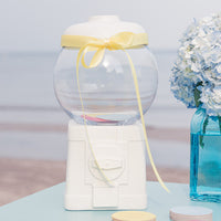Novelty Gumball Machine Canister White-Decor-Container-Here Comes The Bling™