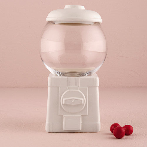 Novelty Gumball Machine Canister White