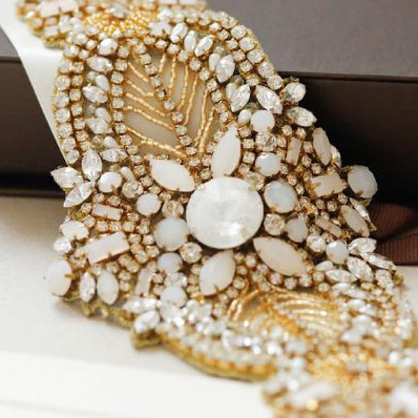 Odette Bridal Sash by Millieicaro-Sash-Here Comes The Bling™