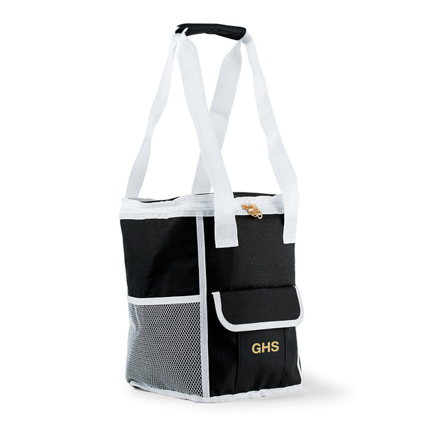 On-The-Go Cooler Bag - Black & White Stripes-Cooler Tote-Here Comes The Bling™