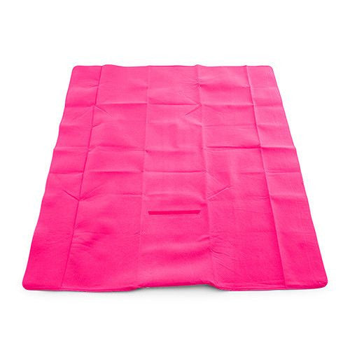 On-The-Go Picnic Mat - Pink & White Greek Key-Picnic Mat-Here Comes The Bling™