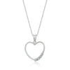Organic Heart Pendant-Necklaces-Here Comes The Bling