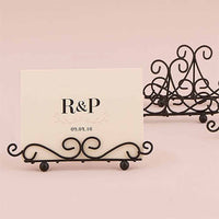 Ornamental Wire Stationery Holders in Black or White (Pack of 6)-Place Card Holder-Here Comes The Bling™