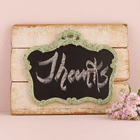 Ornate Vintage Chalkboard Mounted on Faux Wood-Decor-Sign-Here Comes The Bling™