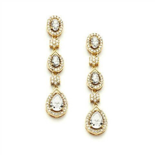 Orsola Gold Cocktail Earrings-Earrings-Here Comes The Bling™