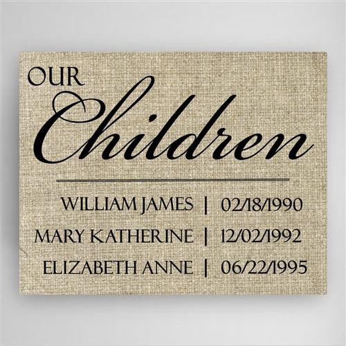 Our Children Canvas Sign-Sign-Here Comes The Bling™