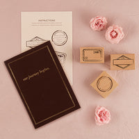 """Our Journey Begins"" Travel Inspired Guest Book Kit-Guest Books-Here Comes The Bling™"