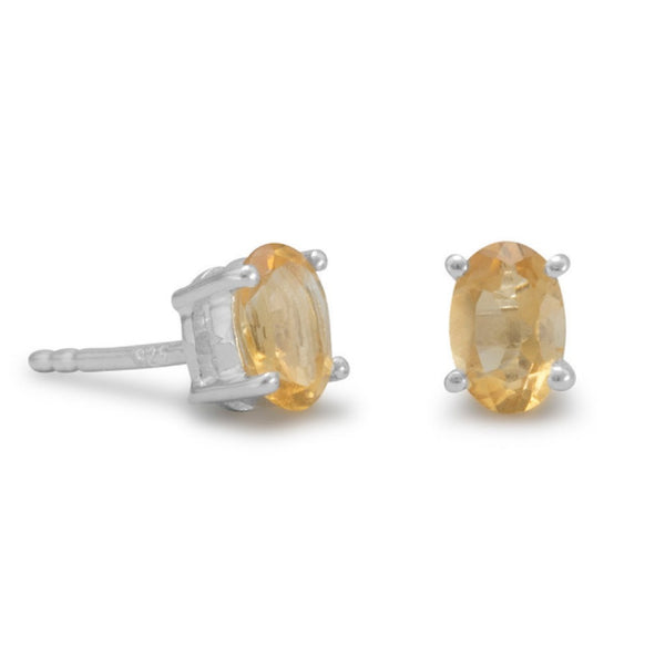 OVAL CITRINE EARRINGS-Earrings-Here Comes The Bling™