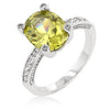 Oval Cut Amethyst Peridot Cubic Zirconia Ring-Rings-Here Comes The Bling™