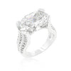 Oval Triplet Cubic Zirconia Ring-Rings-Here Comes The Bling™