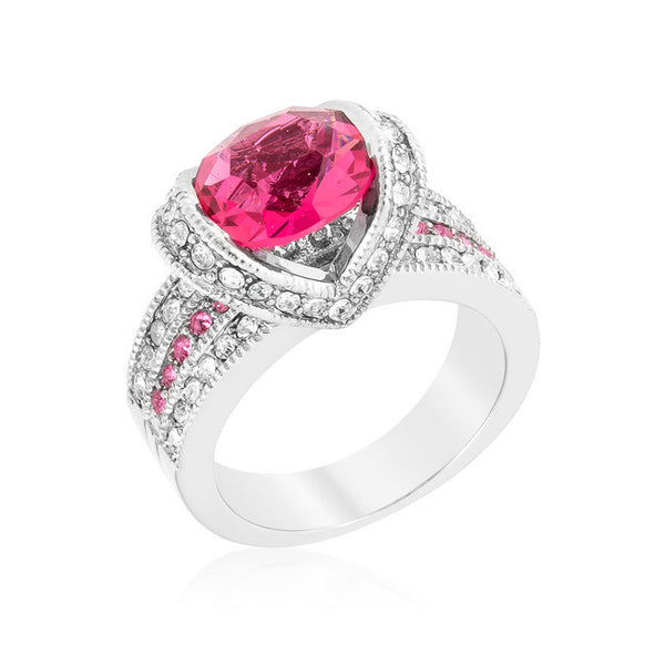 Ovaline Pink Ring-Rings-Here Comes The Bling™