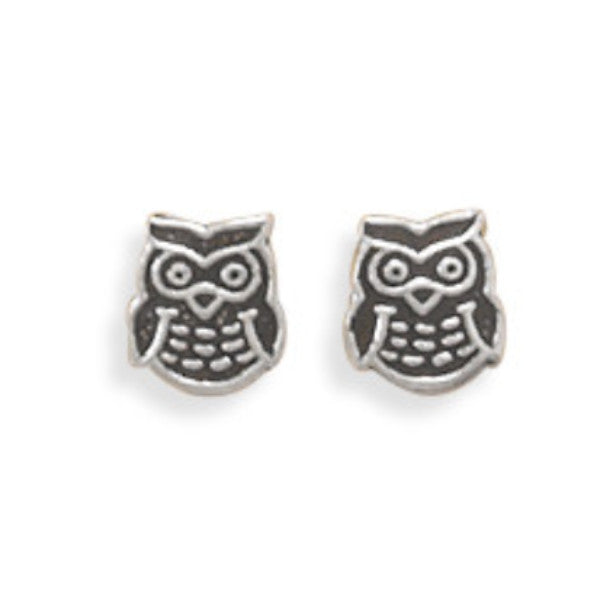 Oxidized Owl Earrings-Girls-Jewelry-Here Comes The Bling™