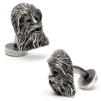 Palladium Chewbacca 3D Cufflinks-Cufflinks-Here Comes The Bling™