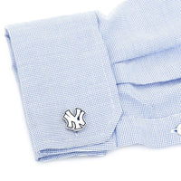 Palladium Edition New York Yankees Cufflinks-Cufflinks-Here Comes The Bling™
