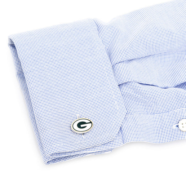 Palladium Green Bay Packers Cufflinks-Cufflinks-Here Comes The Bling™