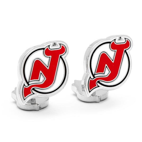 Palladium New Jersey Devils Cufflinks-Cufflinks-Here Comes The Bling™