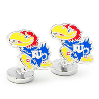 Palladium University of Kansas Jayhawks Cufflinks-Cufflinks-Here Comes The Bling™