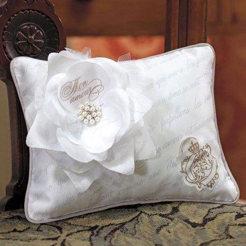 Parisian Love Letter Blossom Ring Pillow-Ring Pillow-Here Comes The Bling™