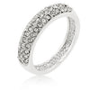 Pave Crystal Silvertone Band-Rings-Here Comes The Bling™