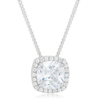 Pave Halo Pendant-Necklaces-Here Comes The Bling